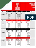 Core Challenge Workout Calendar 2019