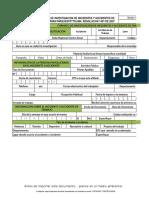 Formato de Investigacion de Incidentes y Accidentes de Trabajo Parquesofttolima