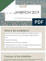 PYP EXHIBITION 2019_ Parent Presentation