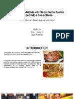 Carne y Productos Cárnicos Como Fuente de Péptidos