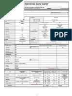 CS Form No. 212 Revised Personal Data Sheet (LONG)