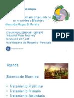 WWT Margarita Esp Final Primários e Secundários Out 2011 Venezuela