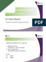 Postive Discrimination 2014