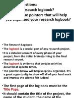 Research Log Book