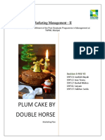Plum Cake by Double Horse - Marketing Plan