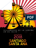 Programación Santiago y Santa Ana 2018