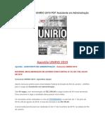 Baixar a Apostila Concurso UNIRIO 2019 PDF Assistente Em Administração