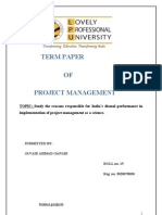 Term Paper of Project Management.
