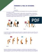 [Medicina-Ita] Fisioterapia - Prevenire ilmal di schiena -Posizioni- Esercizi.rtf