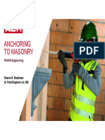 Anchoring to Masonry