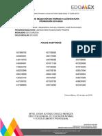 Resultados Normal Superior Edomex 2019