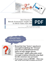 Best Practice Pelayanan KB
