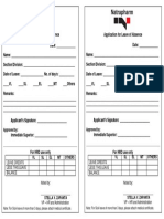 NTP Leave Form