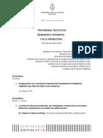 Seminario Antimafia _ Programa Tentativo
