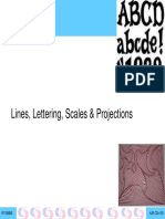 5 Lines Scales Projection
