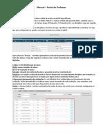 Manual - Portal Do Professor