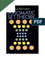 Paul Bernays. Teoría axiomática de conjuntos.