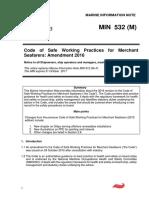 MIN 532Oct 2016 Amendments to CoSWP 2015