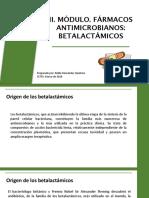 9. Farmacologia III. Módulo II Antimicrobianos Betalactámicos
