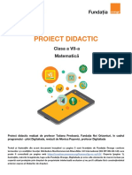 proiect didactic clasa 7a