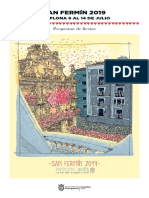 Programa de Fiestas de San Fermín 2019