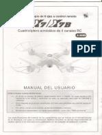 Drone x7b Explorer Manual de Usuario
