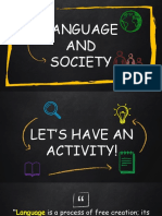 Language and Society Report 1.1