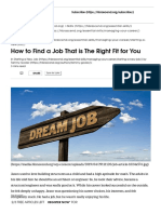 How to Find a Job That is The Right Fit for You | HBR Ascend