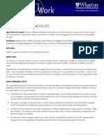 Leaders Checklist