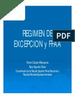 Regimen de Excepcion y Su Relacion Con Las Ffaa-Victor Cubas Villanueva-ppt