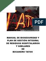 Manual de Bioseguridad y PGIRHS de Bucaneros Tatto