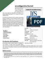 Instituto de Investigación Social - Wikipedia, La Enciclopedia Libre