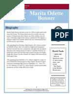Marita Odette Bonner Biography