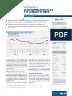 Boletín Índices de Remuneraciones y Costo de La Mano de Obra (Ir Icmo) Mayo 2019