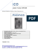 Ficha Tecnica Pacifico Congelador Vertical 4 Puertas