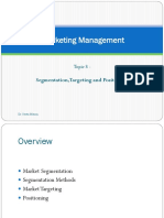 Segmentation Targeting Differentiation and Positioning