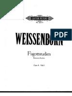 FAGOTE - MÉTODO - Julius Weissenborn - Fagott-Studien (Bassoon studies) Op. 8 - Volume 1