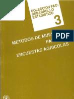 Metodos de Muestreo Para Las Encuestas Agricolas FAO-1990