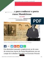 5 Motivos Para Conhecer o Poeta Russo Mandelstam - Russia Beyond BR