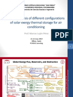 Exergy analisis of a solar climatization system using PCMs