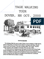 Heritage Walking Tour Dover , New Hampshire Oct 2000