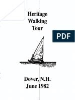 Heritage Walking Tour Dover New Hampshire June 1982