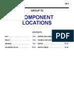Mitsubishi Outlander 2006 Wiring Diagram - Component Lacations