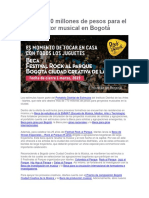 EDITORIAL_ INDARTES 770 Millones de Pesos Para El Sector Musical