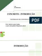 #Aula 05a - Concreto - Introdução