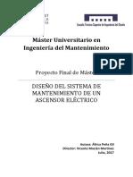 PEÑA - Diseño Del Sistema de Mantenimiento de Un Ascensor Eléctrico
