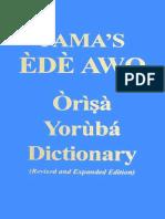 Dicionario Ede Awo Yorubá-Inglês
