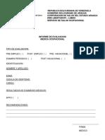 Ambulatorio Informe de Evaluacion