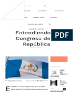 Entendiendo El Congreso de La República