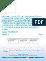 PRUV-MSG-03 Programa de Prevención y Protección UV Rev 0